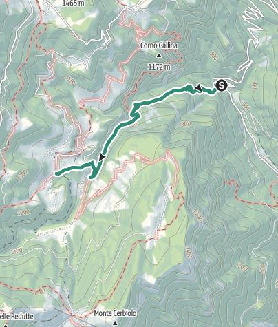 Map / Hike to Rifugio Monte Baldo
