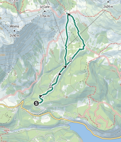 Map / Hike to Rifugio Lusia