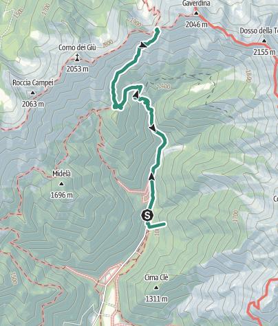 Map / Rifugio Al Faggio  - Bocca dell'Ussol