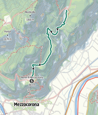 Karte / Wanderung zur Schutzhütte Malga Kraun