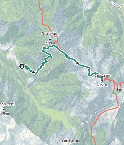 Karte / Wanderung zur Schutzhütte Mario Fraccaroli