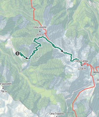 Map / Hike to Rifugio Mario Fraccaroli