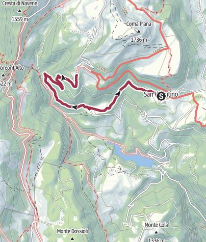 Map / Walk to the Rifugio Fos-Ce