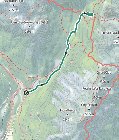 Map / Hike to the Rifugio Treviso