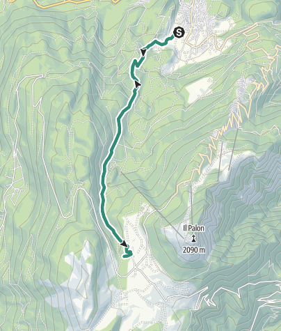 Map / Hike to the Rifugio Viote Fratelli Tambosi