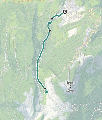 Karte / Wanderung zur Schutzhütte Viote Fratelli Tambosi