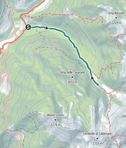 Map / Hike from Rifugio Carlettini to Rifugio Caldenave