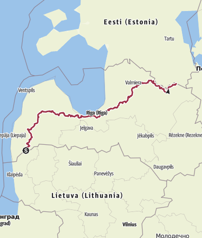 Map / The Baltic Forest Hiking - Mežtaka LATVIA