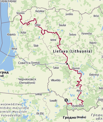 Map / The Baltic Forest Hiking - Miško takas LITHUANIA