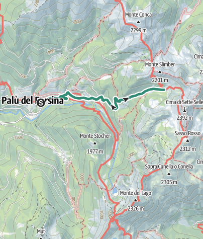 Map / Hike to Rifugio Sette Selle