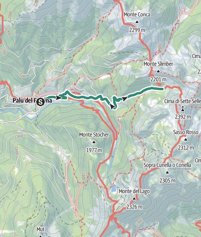Karte / Wanderung zur Schutzhütte Sette Selle