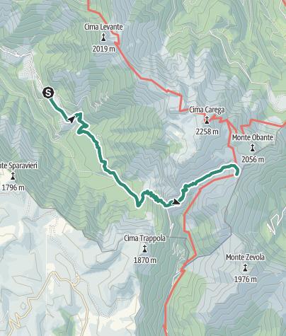 Karte / Wanderung zur Schutzhütte Pompeo Scalorbi