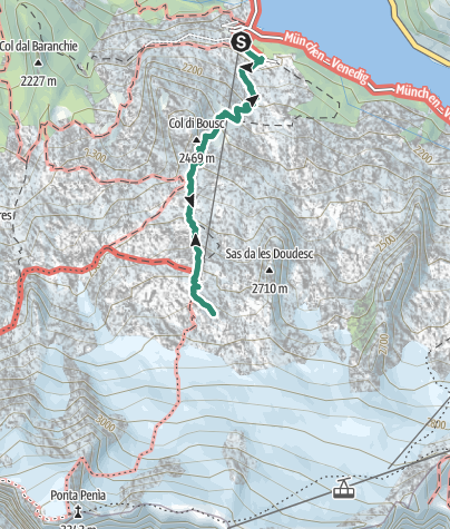 Cartina / Trekking al Rifugio Ghiacciaio Marmolada