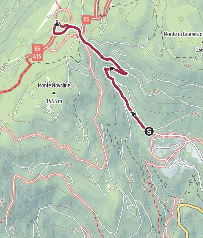 Map / Walk to the Rifugio Potzmauer
