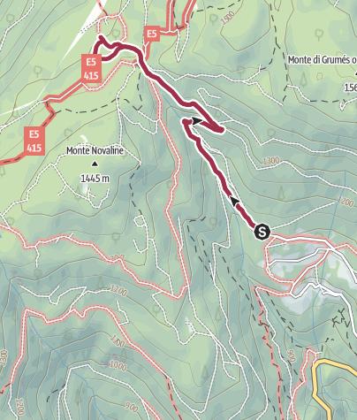 Map / Walk to the Rifugio Potzmauer