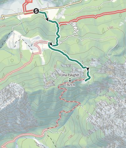 Map / Hike from Rifugio Cereda to Passo del Palughet