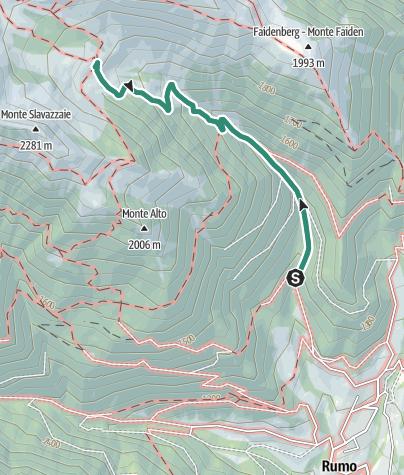 Map / Hike to Rifugio Maddalene