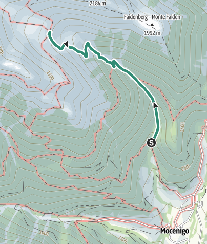 Map / Hike to Rifugio Maddalene