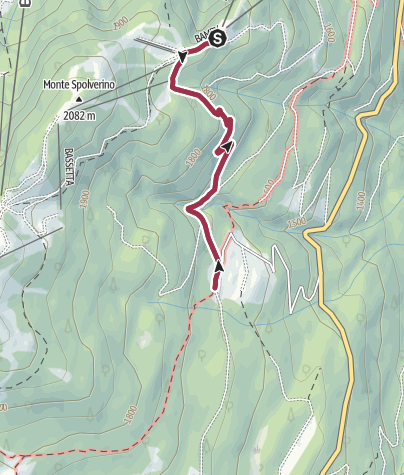 Map / Walk from Rifugio Albasini to Malga di Dimaro