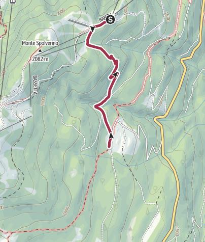 Map / Walk from Rifugio Albasini to Malga di Dimaro