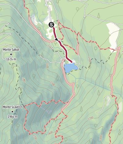Karte / Wanderung Schutzhütte Fazzon – Lago dei Caprioli