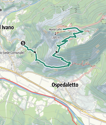 Map / Hike to Rifugio Monte Lefre
