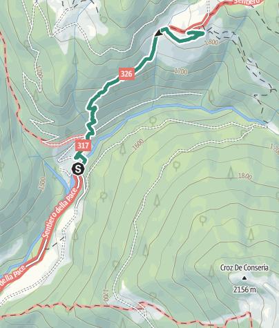 Karte / Wanderung zur Schutzhütte Rifugio Malga Conseria