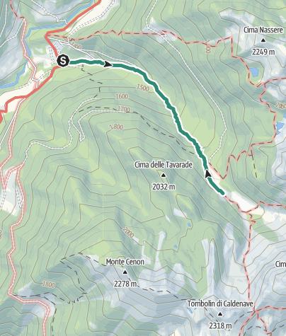 Cartina / Trekking al Rifugio Caldenave Claudio e Renzo