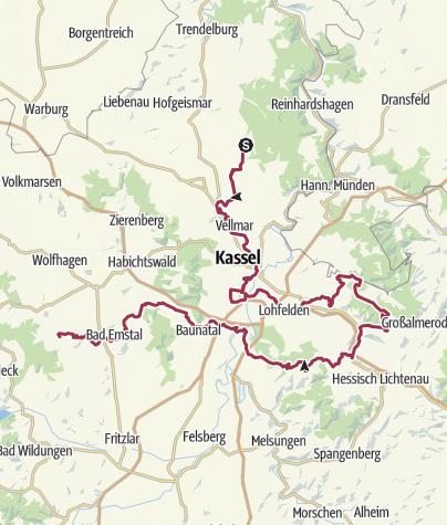 Karte / St. Ottilien-Schleife, Hugenotten- und Waldenserpfad