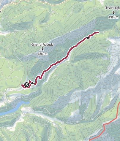 Map / Walk from Rifugio Caltena to Val Giasinozza