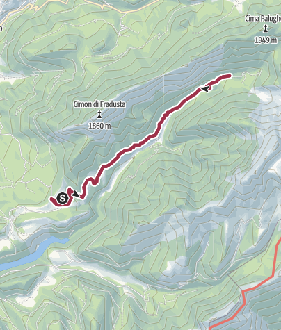 Map / Walk from Rifugio Caltena to Val Giasinozza