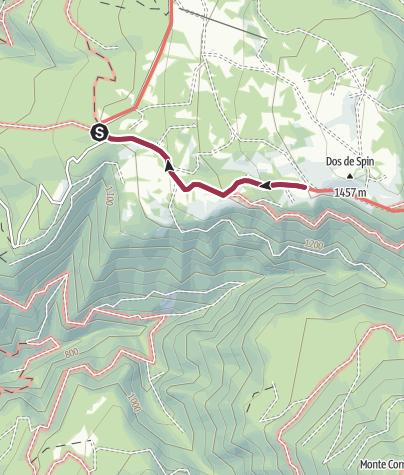 Karte / Wanderung von der Schutzhütte Sores zur Schutzhütte Predaia