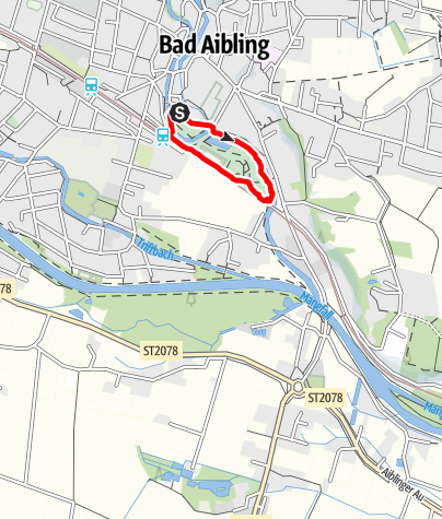 Karte / Bad Aibling bewegt: Kurparkrunde