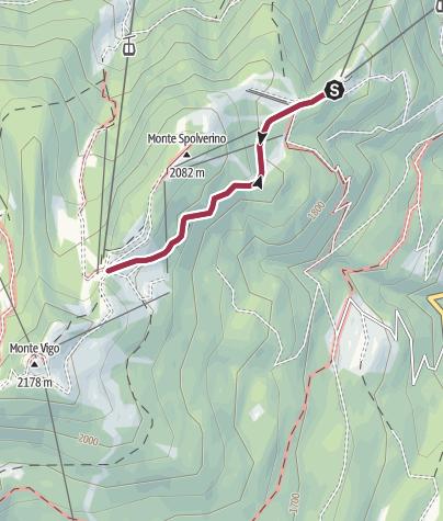 Map / Walk to the Rifugio Solander