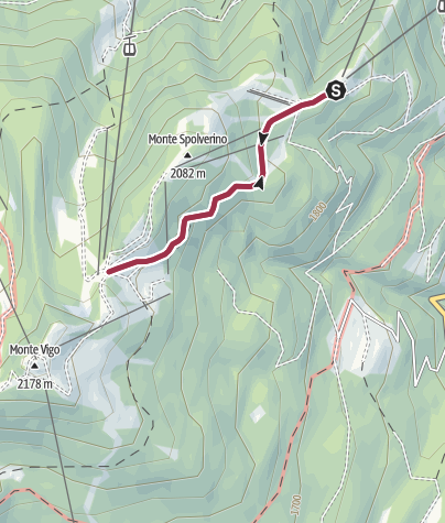 Map / Walk to the Rifugio Solander