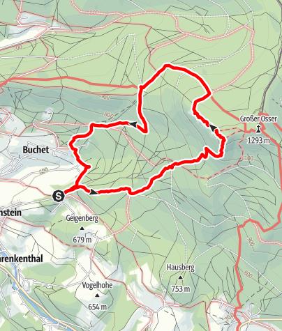 Karte / Kleiner Osser - Südanstieg von Berghäusl