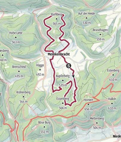 Karte / Rund um Meinkenbracht