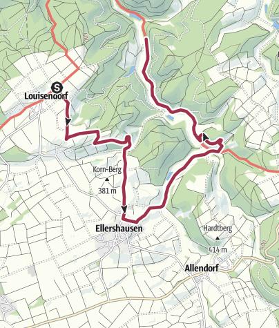 Karte / Lengeltal-Schleife, Hugenotten- und Waldenserpfad