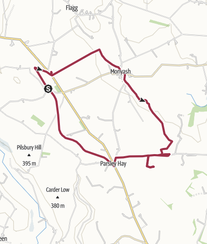 Map / Derbyshire arbor low walk