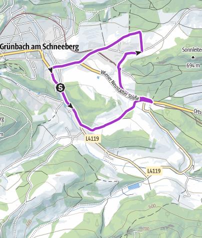 """Karte / Sparkasse Runde """"Sonnenweg"""""""