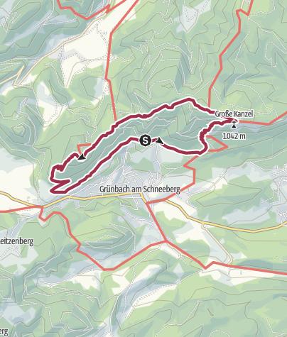 Karte / Vom Urknall bis nach Grünbach Runde