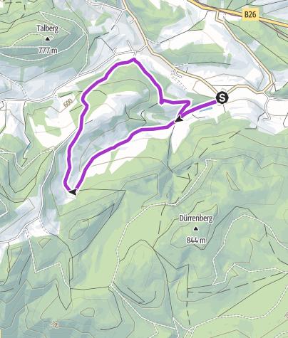 Karte / Schrattenbach Runde