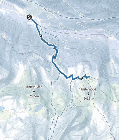Map / Snowshoe hike Kasselerhütte Riva di Tures/Rein in Taufers (Copy)