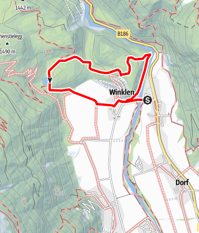 Karte / Geolehrpfad Winkelbergsee