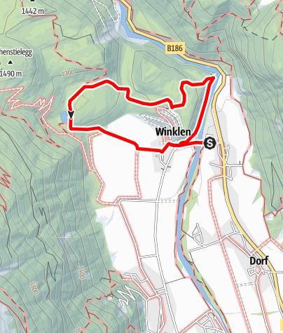 Karte / Geolehrpfad Winkelbergsee - Längenfeld