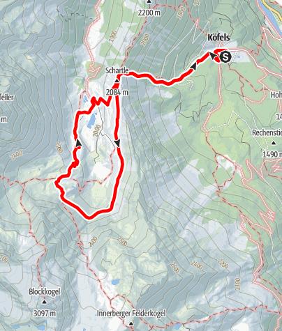Map / Köfler Waalweg - Frischmann Hütte