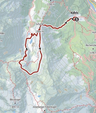 מפה / Köfler Waalweg - Frischmann Hütte