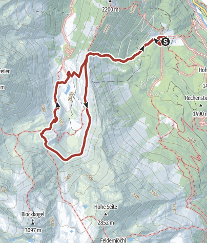 Mapa / Köfler Waalweg - Frischmann Hütte