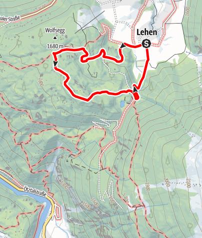 Karte / Tauferbergwald und Hoher Stein