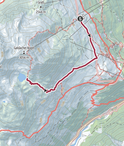 Map / Lake Gaislachsee